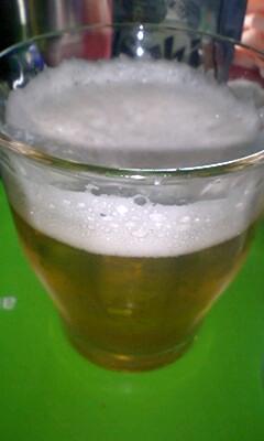 ビール飲んだ